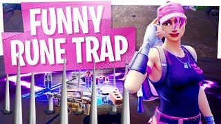KILLING NOOBS with FUNNY TRAP GLITCH in Fortnite Battle Royale!