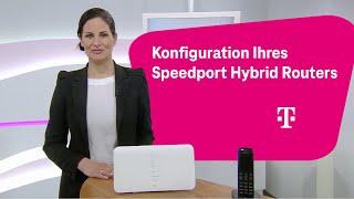 Telekom: MagentaZuhause Hybrid - Konfiguration Ihres Speedport Hybrid Routers
