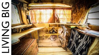Caravan Converted To Stunning Tiny House For Only $1000!