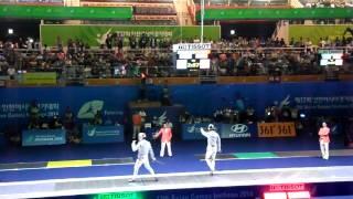 14.09.21 T04 - Kim Junghwan(KOR) vs Lam Hin Chung(HKG) - 2014Incheon AG. Fencing MS Ind.