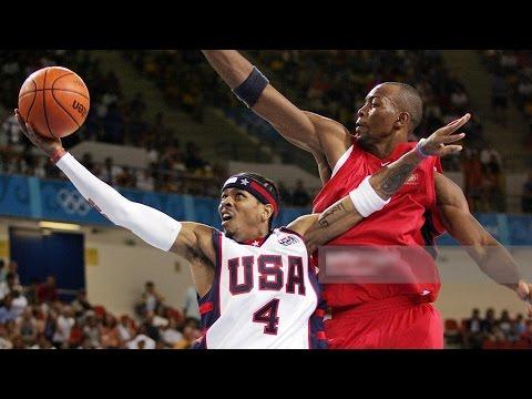 USA vs Angola 2004 Athens Olympics Men's Basketball Group Game FULL GAME English