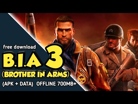 New!! Brother In Arms 3 Mod (apk + Data)  Free Android Download
