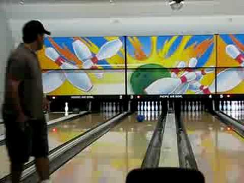Gabe bowling @Pacific Bowl 7/12/08  #1