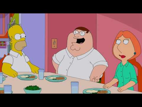 Family Guy - Dinner with the Simpsons