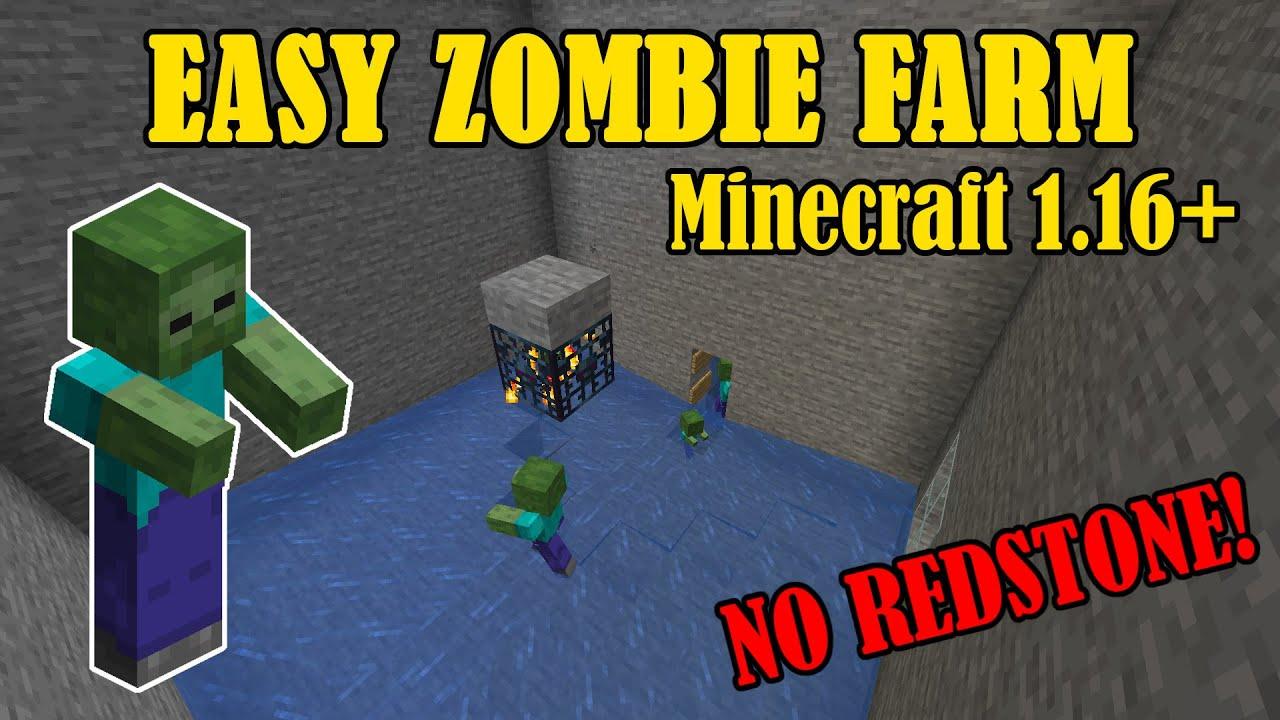 Easy Zombie XP Farm for Minecraft 12.126+