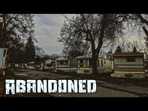 HUGE ABANDONED TRAILER PARK | Chased By A Tractor! | Life O