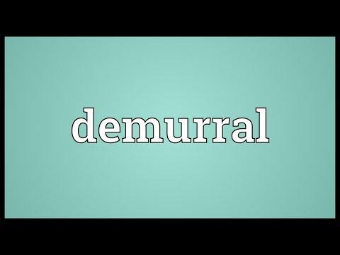 Header of demurral