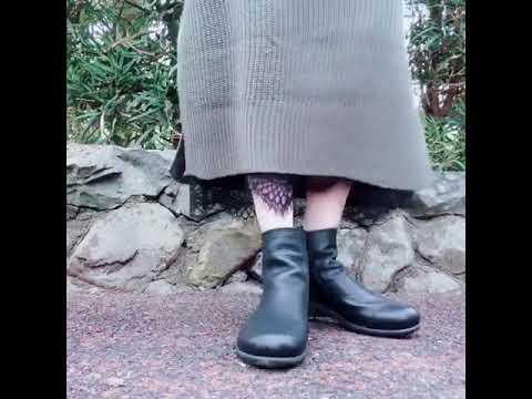 ブーツ レディース 本革 yurikomatsumoto 痛くない 疲れない靴 外反母趾 高級感 フラット 歩きやすい 日本製 高級感 本革 ファスナー