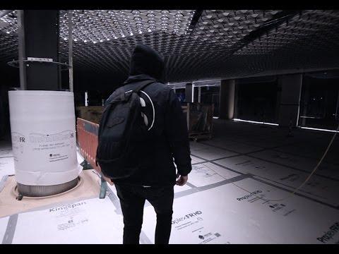 EXPLORING AN ACTIVE CONSTRUCTION SITE (SECURITY ESCAPE) - GoPro POV