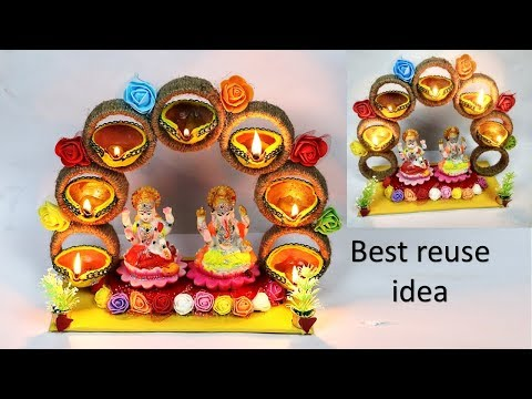 best use of waste bangles || best out of waste idea || diwali craft || bangle craft