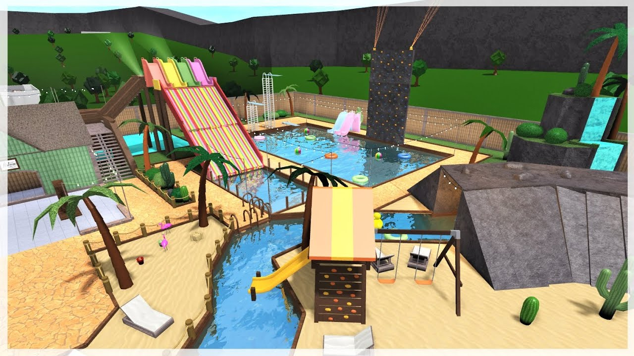 Bloxburg Water Park Family Vacation Roblox Roleplay Youtube