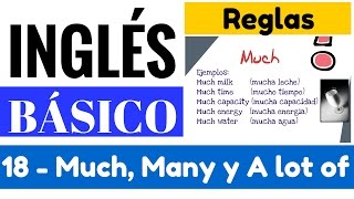 "Uso de Much, Many y a Lot of - Lots of, Sustantivos Contables y No C. ""Yes en Inglés 1"" [Video 18]"
