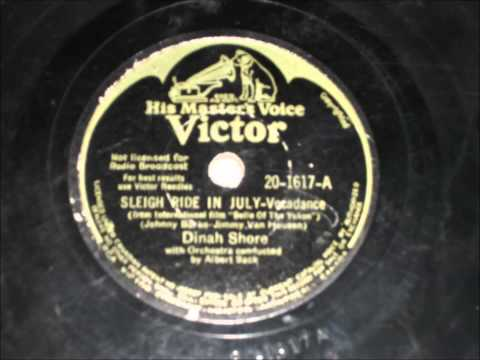Sleigh Ride In July - Dinah Shore - 1944 mp3