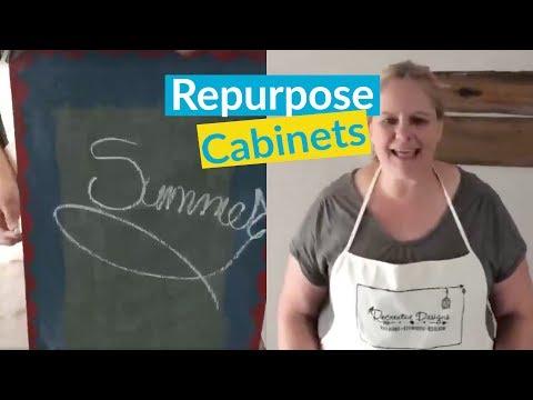 DIY Repurpose Cabinets!
