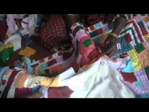Siddi Women at Work in Mainali, Making Quilts.  Suggest watching full screen.