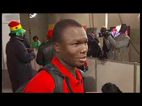 English interview Ghana players after the loss to Uruguay at the 2010 World Cup