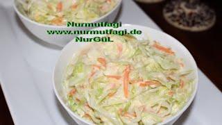 KFC Salata tarifi - en lezzetli Kfc salatasi nasil yapilir? kfc lahana salatasi tarifi -Nurmutfagi