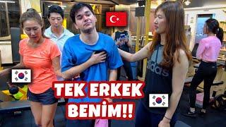 Kore'de FİTNESS Yapmak! (TEK ERKEK BENİM!)