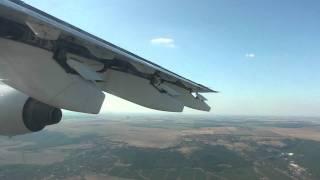 Varna/VAR (Takeoff and Retracting Flaps) - Sofia/SOF (landing and airbrake on) Bae 146, Bulgaria Air