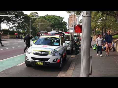 Emergency Vehicles in Action at Sydney 2018 ANZAC Day March!