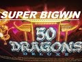 ★50 Dragons Deluxe Slot machine★☆BONUS SUPER BIG WIN☆$1.50 Bet