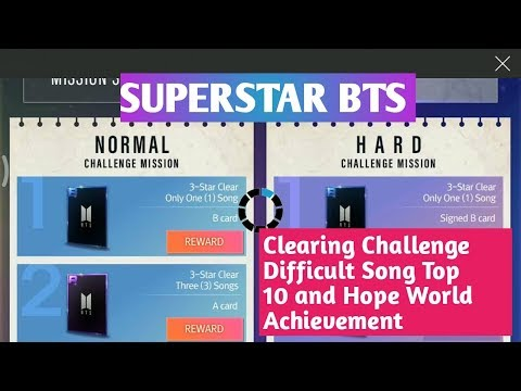 SUPERSTAR BTS Clearing Challenge Difficult Song Top 10 and Hope World Achievement