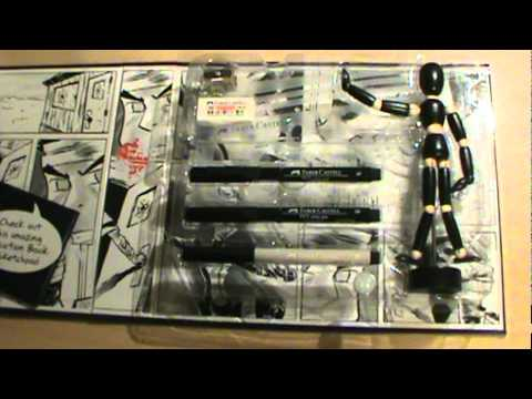 Unboxing Complete Manga Drawing Kit.mpg