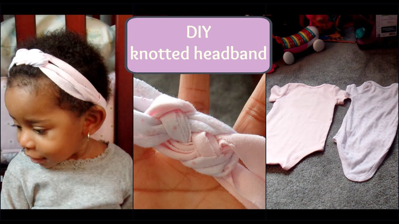 diy no-sew knotted headband - using old onesies! - youtube