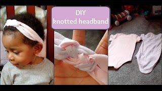 diy no sew knotted headband using old onesies