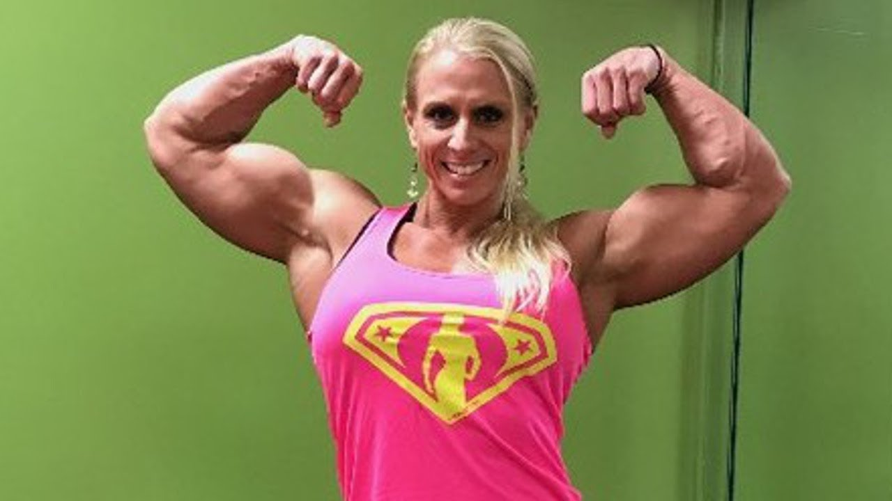 41 Years Young Huge Massive Biceps Woman Shannon Rabon -9470