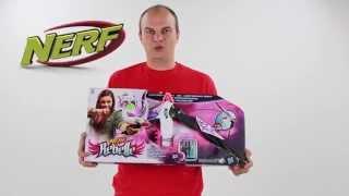 видео Лук Hasbro NERF Rebelle Блочный «Стрела»