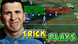 WINNING A MADDEN 18 GAME ONLY RUNNING TRICK PLAYS!