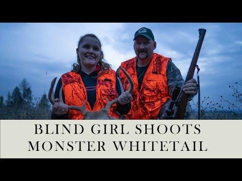 Blind Girl Shoots Monster Whitetail Deer