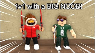 1v1 with a BIG NOOB in Murder Mystery 2!
