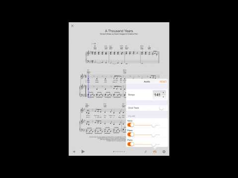Sheet Music Direct for iPad - Playback and customising scores