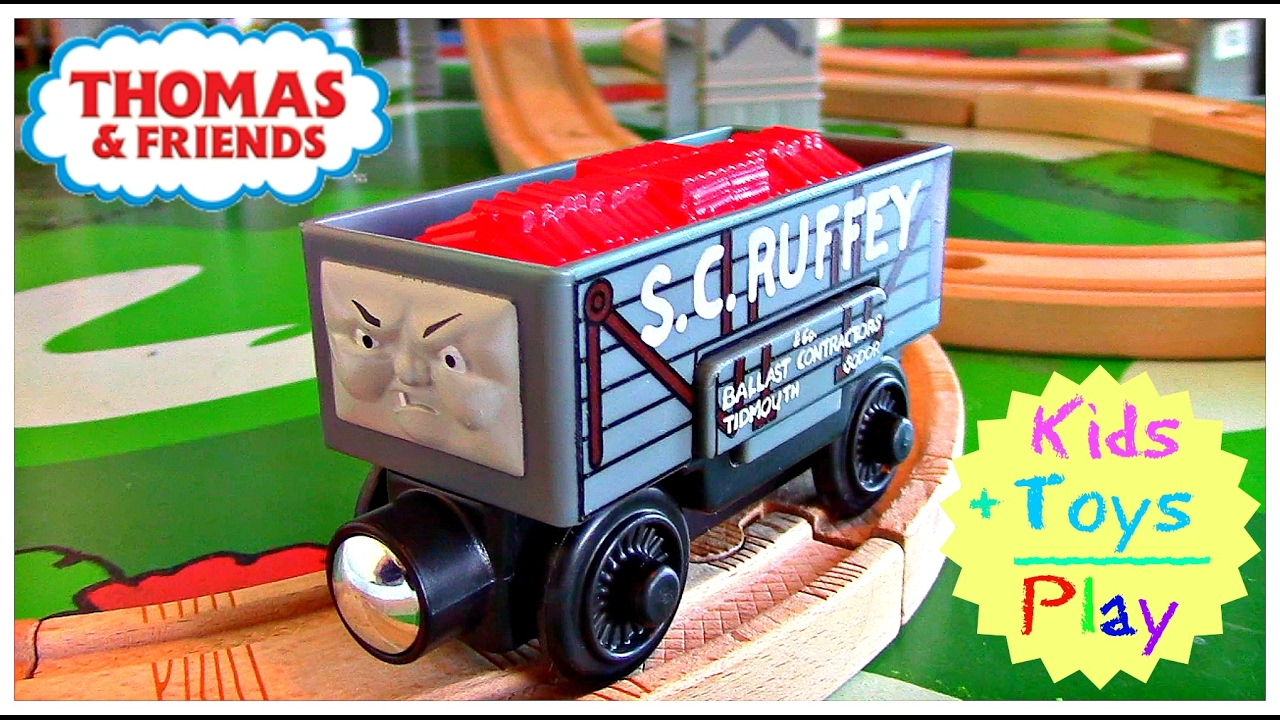 Thomas And Friends Wooden Railway Thomas Train Sc Ruffey Troublesome Truck Unboxing Playtime
