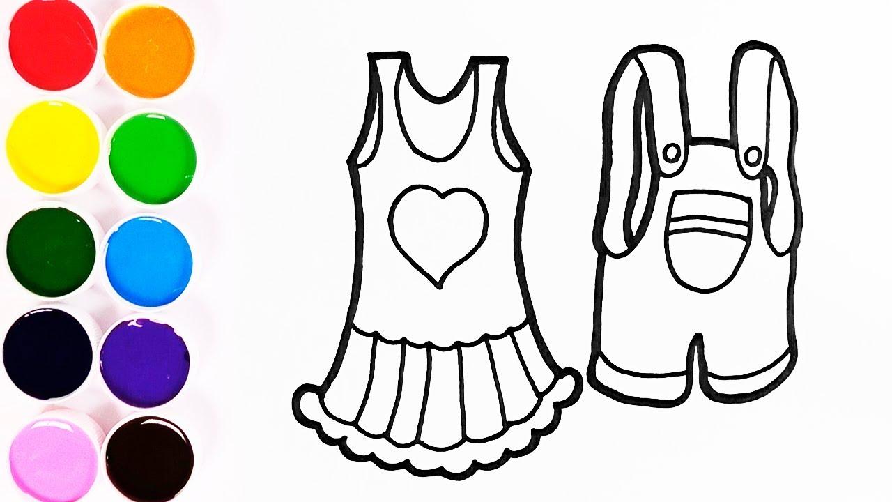 Dibujar Y Colorear Ropa Para Niño Y Niña