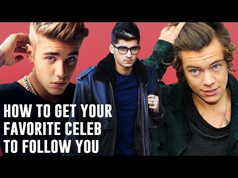 How To Get Your Favorite Celeb to Follow You