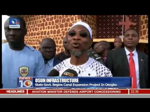 Osun State Govt. Begins Canal Expansion Project In Osogbo