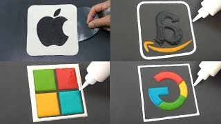 Most Valuable Companies Logo Pancake Art - Amazon, Microsoft, Apple, Google