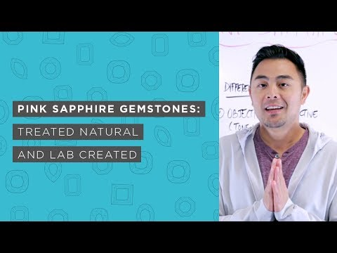 Pink Sapphire Gemstones | Treated Natural and Lab Created