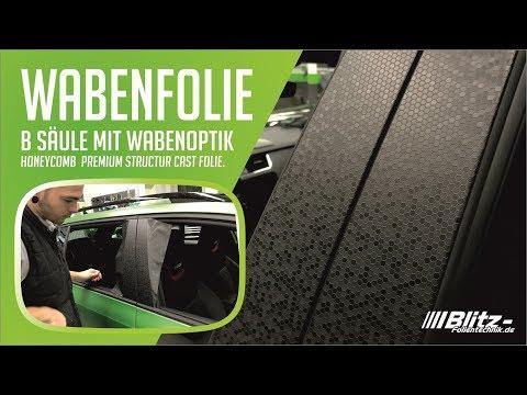 Exterieur Auto Zierleisten Folieren Mit Wabenfolie Blitz Folientechnik Nrw Youtube