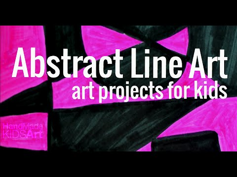 Art Projects for Kids: Abstract Line Art
