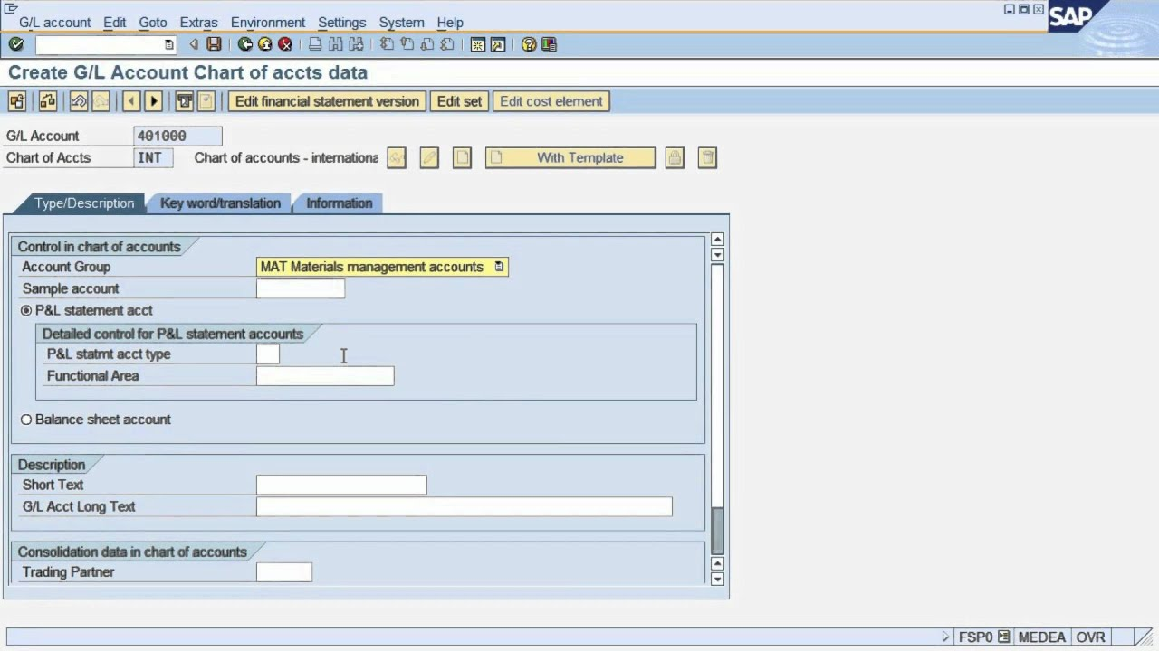 FS4  SAP tutorial: create master record in SAP ERP