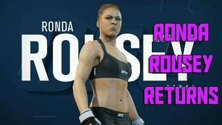RONDA ROUSEY FIGHT | UFC 2 Female Pro Career Mode (EA Sports UFC 2 Gameplay)