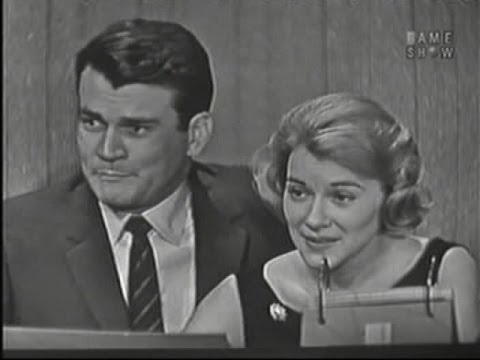 What's My Line?  Don Murray & Hope Lange; Martin Gabel panel Mar 30, 1958