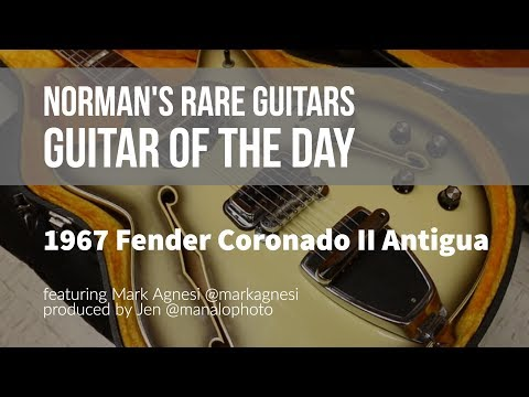 Norman's Rare Guitars - Guitar of the Day: 1967 Fender Coronado II Antigua