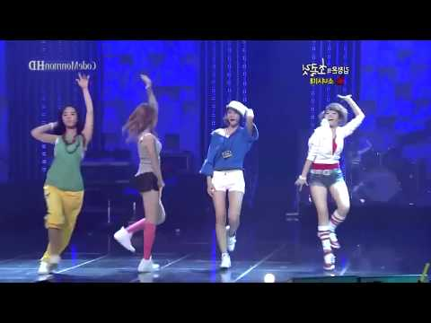 Girl's generation dance battle - Hollaback girl [mirrored]