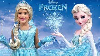 Elsa FROZEN the princess Dress and Makeup