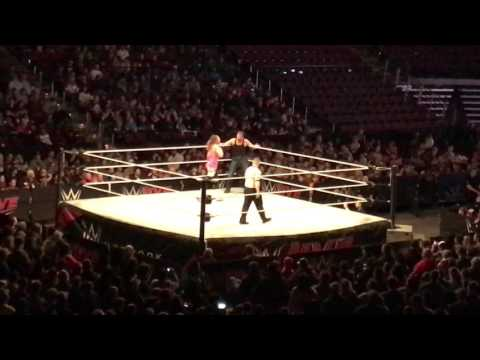 Dean Ambrose vs Dolph Ziggler Intercontinental Title Match WWE Live Bossier City 1/7/16
